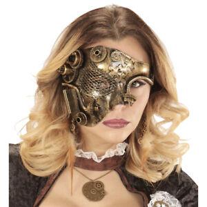 Métallique Demi-Masque Masque Yeux Noble Rétro Steampunk pour les Adultes Cuivre