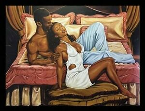 US Art Frames 24x32 Pillow Talk, Johnny Myers - African American Print & Poster