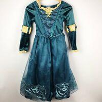 Disney Parks Store Brave Princess Merida Dress Up Costume Teal Green Size M 7 8