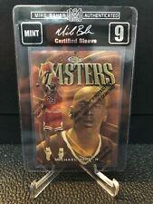 Michael Jordan 1997-98 Finest Masters w/ Coating #154 Mike Baker Auth MBA9 Bulls