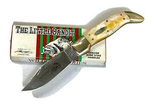 Vintage Bulldog Parker Cut Co Japan Little Bandit Folding Dagger Knife Bone Stag