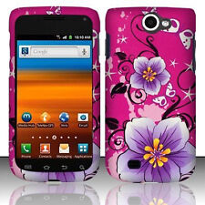 For Samsung Exhibit 2 II 4G HARD Case Snap on Phone Cover Pink Hibiscus Flowers