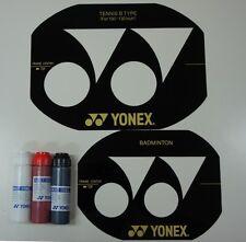 Yonex Badminton & Tennis Stencil Cards & 3 Bottles Yonex Stencil Inks