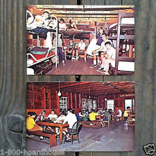 6 Vintage Original Different CAMP NOTRE DAME Boys Summer 1960s NH Postcards NOS