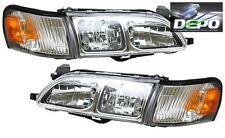 93-97 Toyota Corolla CHROME Head Lights Diamond + Corners 4 PCS SET DEPO