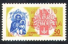 BRASILE 1967 MADONNA/Polonia millenaria/croce/storia/ANIMAZIONE/RELIGIONE 1v n38920