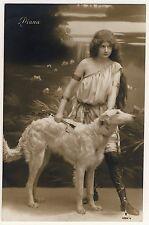 Windhund BARSOI / BORZOI Greyhound Русская псовая борзая * Vintage 1900s RPPC #4