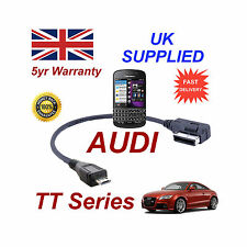AUDI TT 4F0051510M Cable Para BLACKBERRY Q10 Series Micro USB Cable de Audio 30cm
