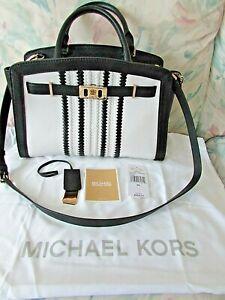 Michael Kors Karson Large Satchel Shoulder Bag Purse Handbag, Leather