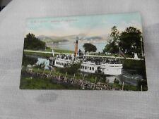 More details for postcard  p8f3 lochgilphead ss  linnet crinan  canal vgc