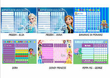 Children's Personalised Reward Chart. Kids behaviour, Chore, Toilet Training NEW