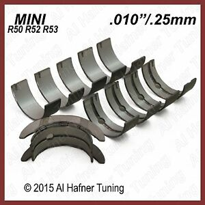 "Main bearing SET (.010""/.25mm) Mini Cooper R50, R52, R53"