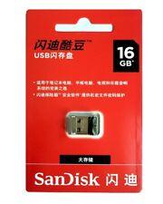 SanDisk 16GB Cruzer Fit USB 2.0 Flash Drive Stick Pen SDCZ33 16G for Ultrabook