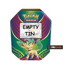 Pokemon Empty 2018 Leafeon GX Tin For Trading Card Storage Evolution Celebration