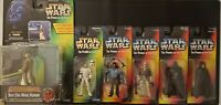 Star Wars Action Figures Lot Of 6 90's The Power Of The Force Kenner