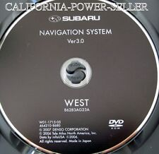 2006 2007 2008 2009 Subaru Tribeca B9 Outback Legacy GT Navigation DVD WEST Map
