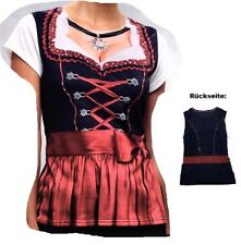 Dirndlshirt Dirndl Tracht Shirt Bayern Kostüm Gr. M Fasching Karneval Verkleidet