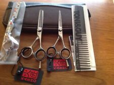 Professional Japanese hairdressing scissors and Thinners Set New 5.5 convex edge