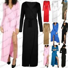 Viscose Long Sleeve Dresses for Women with Belt