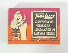 Travelodge Travel Lodge Dining Hotel Motel Wooden Matchbook Matches Match Box