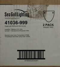 LOT OF 2 SeaGull Lighting 41036-999 One Light Wall Sconce Metropolis Collection
