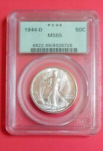 1944 D Walking Liberty Half Dollar - MS 65 PCGS    OGH!   Look Now!!!!