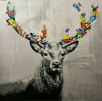 Martin Whatson The Stag with COA like banksy kaws