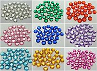 200 Acrylic Flatback Faceted Round Rhinestone Gems 10mm No Hole Pick Your Color