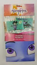 "Vampirina Disney Junior 1 Pillow Case Reversible Blue Green 20"" X 30"""