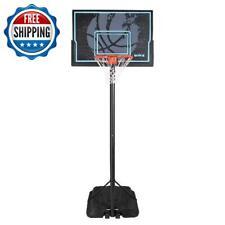 "Basketball Hoop Goal Adjustable Height 44"" Portable Backboard System Outdoor"