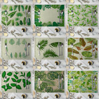 HN- KF_ Leaves Print Placemat Pad Linen Dining Table Insulation Mat Home Decor M