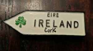 "IRELAND collectible refrigerator magnet travel souvenir 3 1/4"" EIRE Cork"