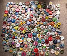 More details for vintage badges 1970s 1980s pin backs metal 200+