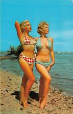 MIAMI FL 1979 Two Hot Babes on the Beach Just Strollin Along VINTAGE FLORIDA 574