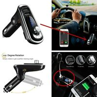Autos Car  Hands-free Bluetooth Transmitter FM USB Charger Player For Smartphone