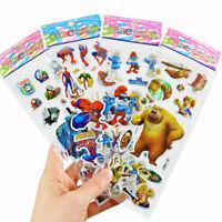 10 Sheets 3d Bubble Stickers Cartoon Kids Classic Toys Sticker School Reward