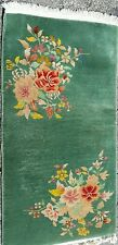 AN ATTRACTIVE EMERALD COLOR CHINESE ART DECO RUG
