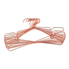 "Koobay 16.5"" Rose Copper Gold Shiny Metal Wire Coat clothes Hangers (30ps)"