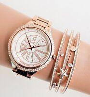 Original Michael Kors Reloj Mujer MK6551 Taryn Crystal Color: Rosa Dorado Nuevo