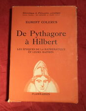 1943  De Pythagore à Hilbert  Mathématiques & maîtres  EGMONT COLERUS