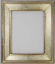 12 x 16  Picture Frame Hand Applied Silver Leaf Finish Gallery Frame Very Nice