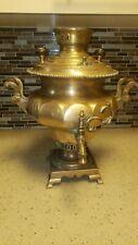Antique Russian Brass Tombak Samovar Tea Coffee Hot Water Urn marked