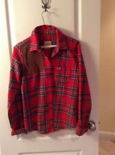 Hollister by Abercrombie SALT CREEK Plaid women's shirt red/black equestrian   L