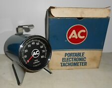 AC Portable Elec Tachometer ST 122 : Exlnt Cond w/Box Instruction : Vtg NOS 1965