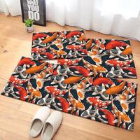 Fishes Koi Area Rug Bath Mat Non-slip Bedroom Floor Carpet Kitchen Mat Door Mat