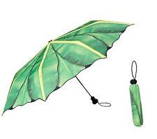 Von Lilienfeld Taschenschirm Bananenblatt faltbar umbrella Schirm Dschungel grün