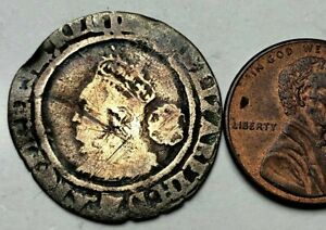 a6: 1567 Elizabeth 1st Hammered Silver Sixpence - Cheap