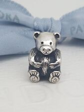 Authentic Pandora Sterling Silver TEDDY BEAR Stuffed Animal Charm 790395 RETIRED