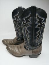 PANHANDLE SLIM  All Leather Lizard Skin Cowboy Western Boots Mens Sz 10.5 D