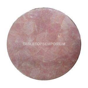Rose Quartz Marble Table Top, Coffee/Corner /Side Table Top Living Room Décor